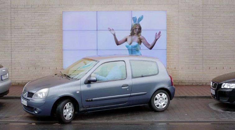 The interactive parking Billboard