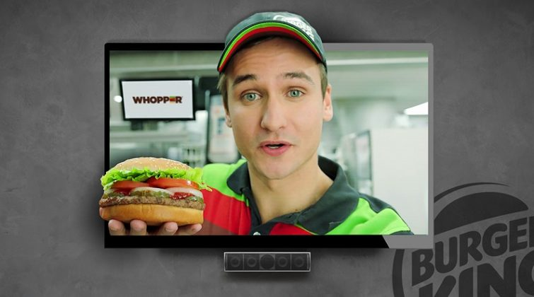 Google home of Whopper