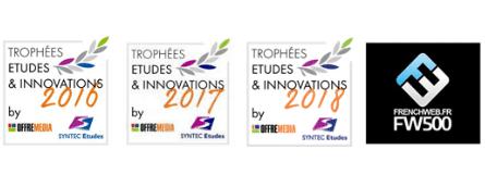 Trophées Etudes & Innovations 2016 / 2017 /2018 - FrenchWeb 500